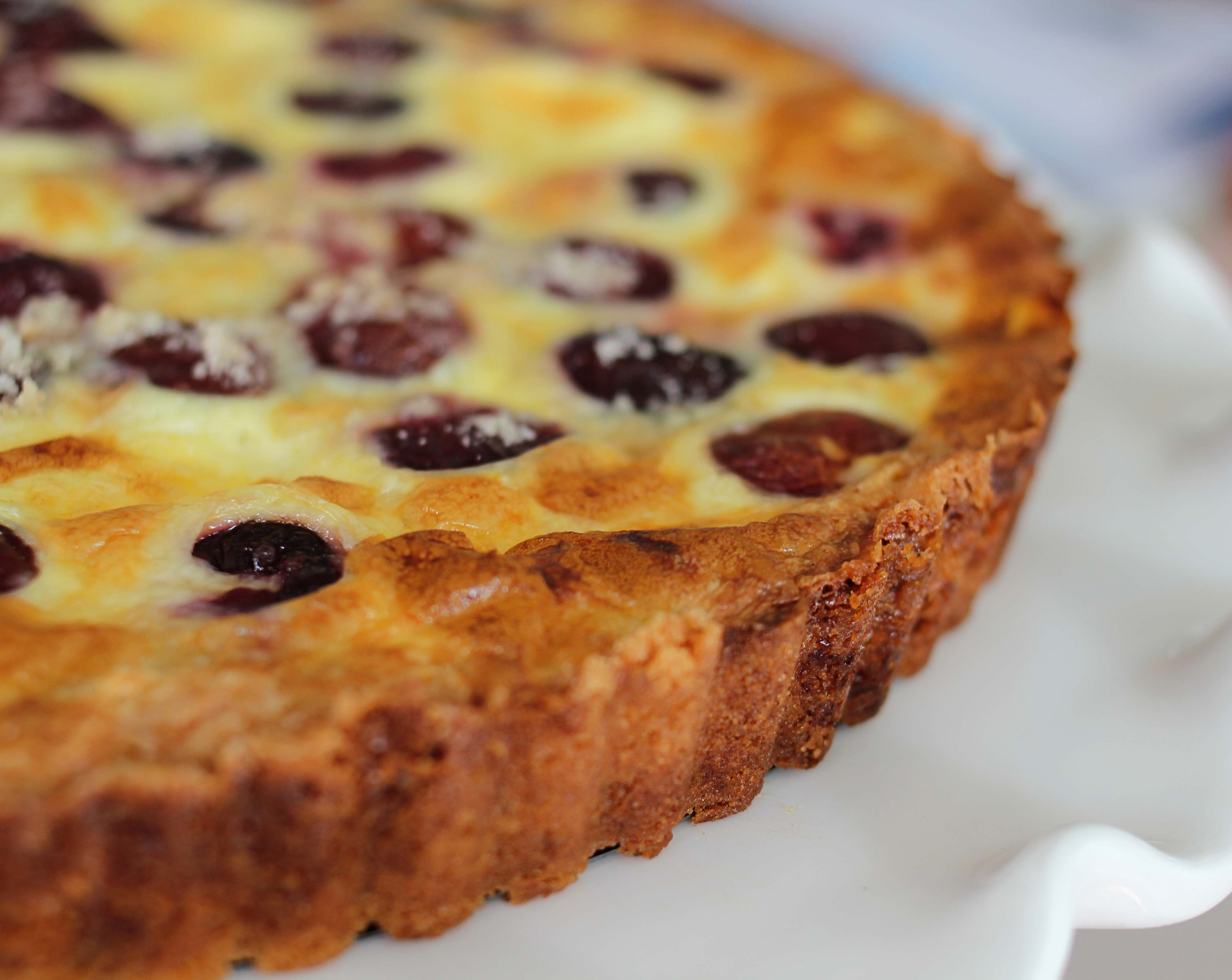 A Cherry Custard Tart | the amused bouche