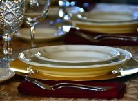 Charger Table Setting & Charger Table Setting Square Gold ...