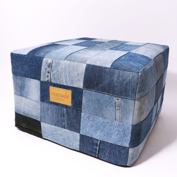 puf jeansowy upcycling