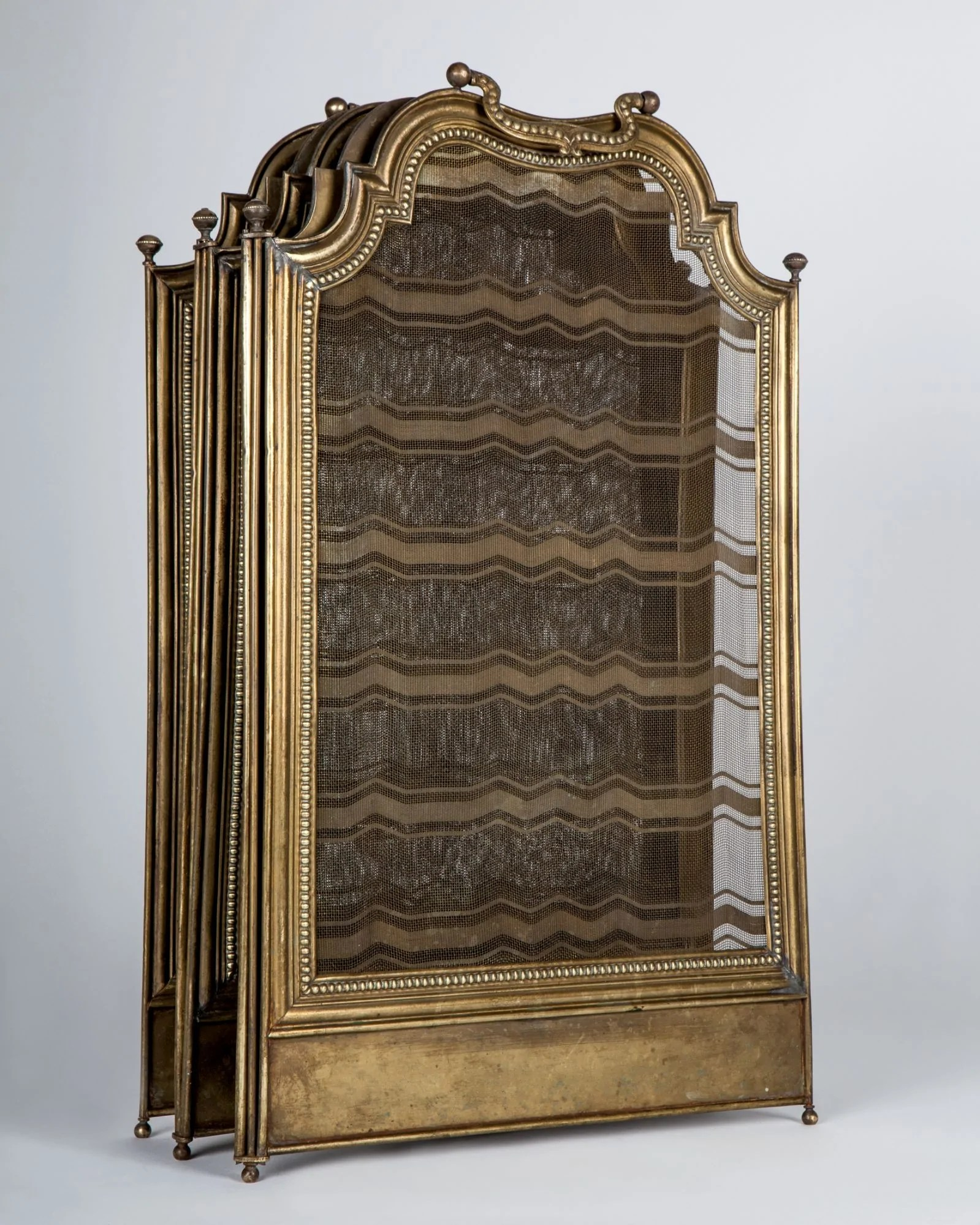 Brass Fireplace Screen Brass Fireplace Screen Afp0536 Remains
