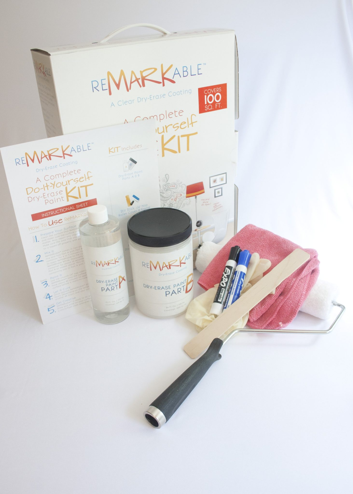 Turn A Wall Into A Whiteboard Clear 100 Square Foot Kit