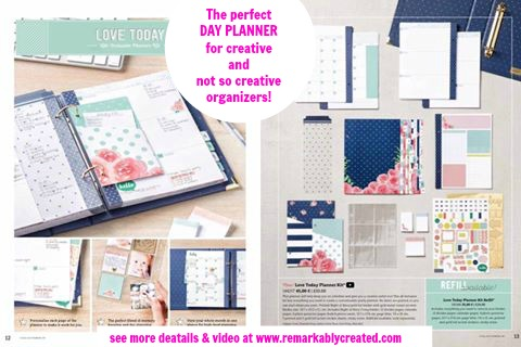 The perfect day planner for Crafty  Non Crafty Organizers - Stampin