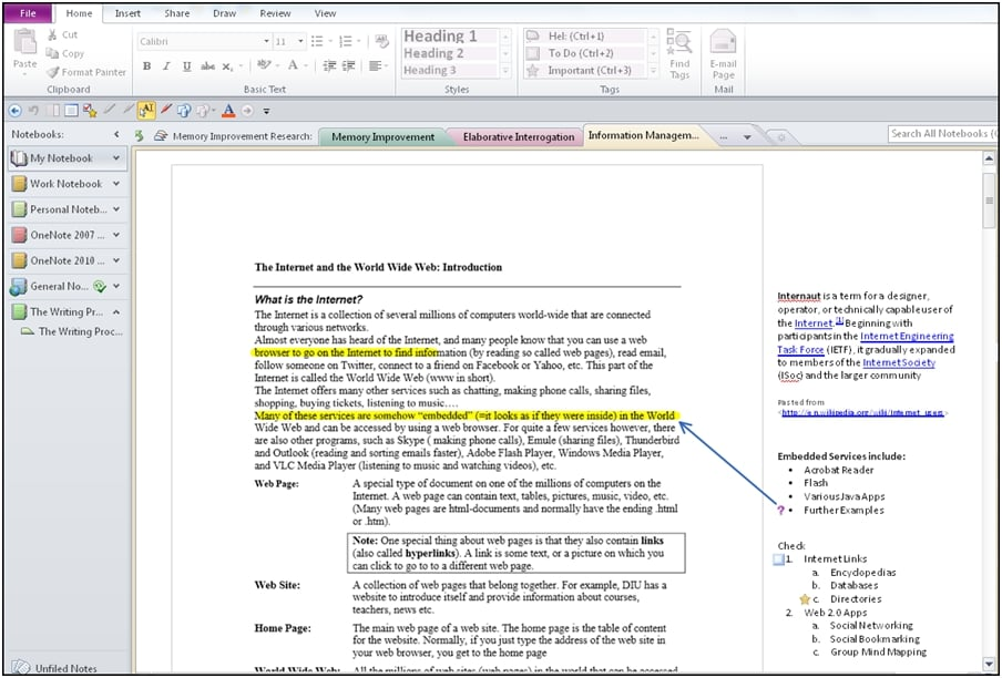Effective Note Taking and Outlining with OneNote