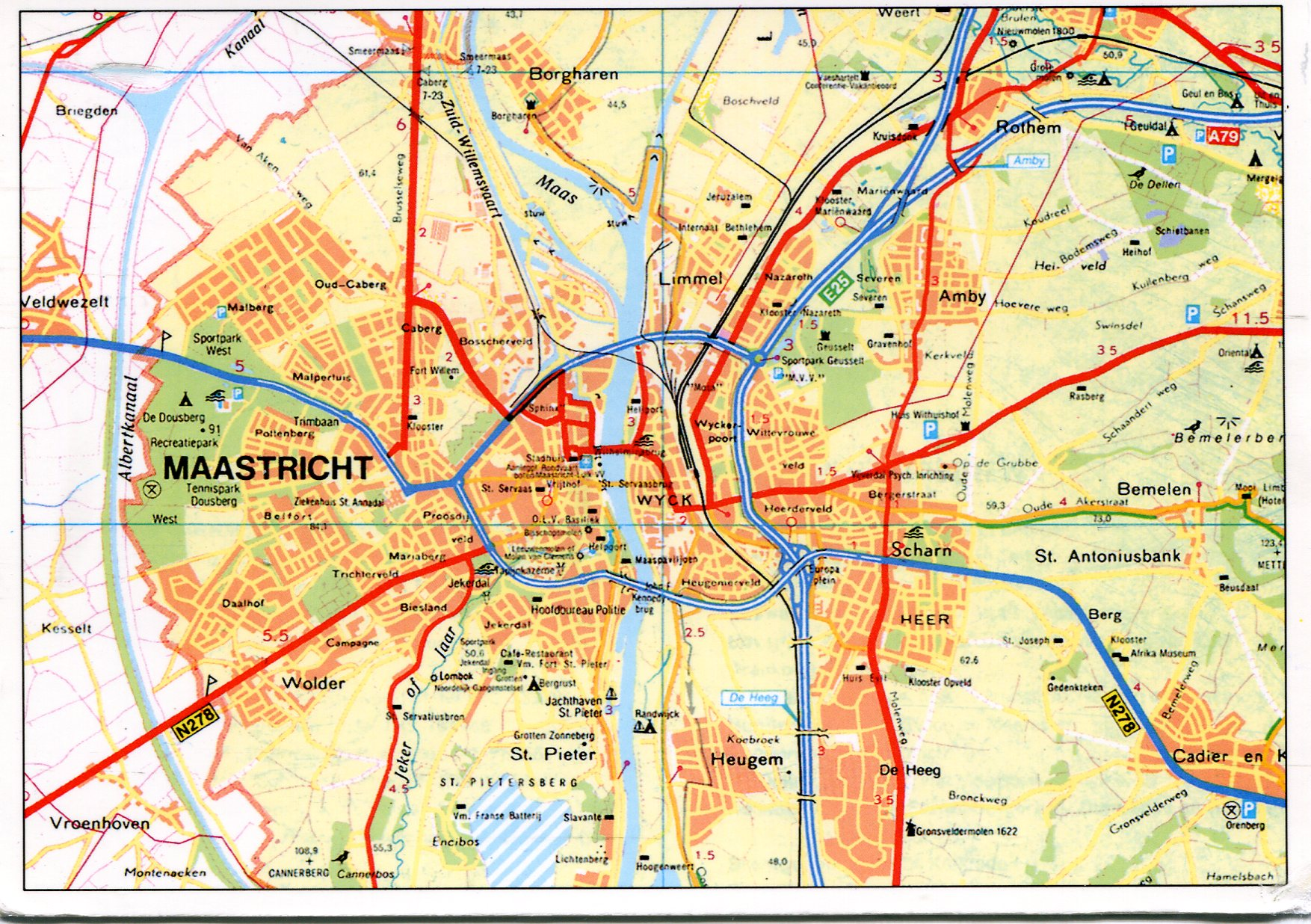 Plattegrond Maastricht Maastricht, Netherlands Map | Remembering Letters And