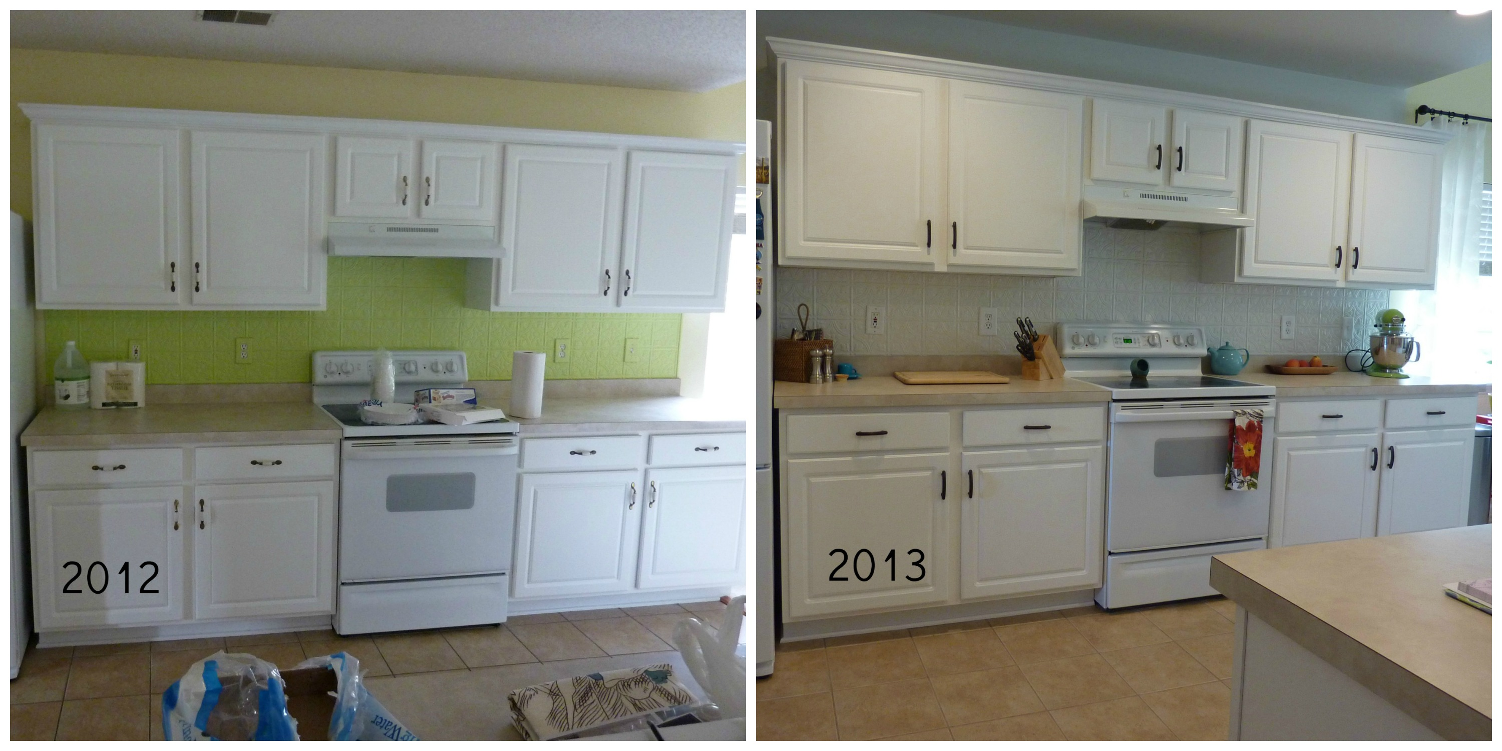 what a difference a year makes fluorescent kitchen lights Lastly we recently finished what I call Phase 1 of our kitchen remodel This is the we re broke but have to make the kitchen more tolerable until we win