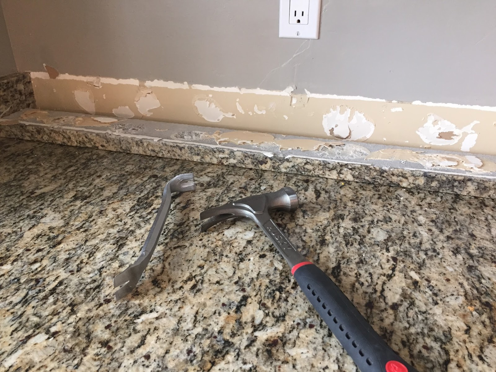 Removing Tile Countertop Do It Yourself Brick Veneer Backsplash Remington Avenue