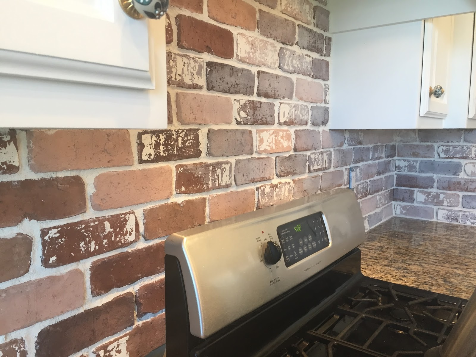 White Brick Look Tile Do It Yourself Brick Veneer Backsplash Remington Avenue