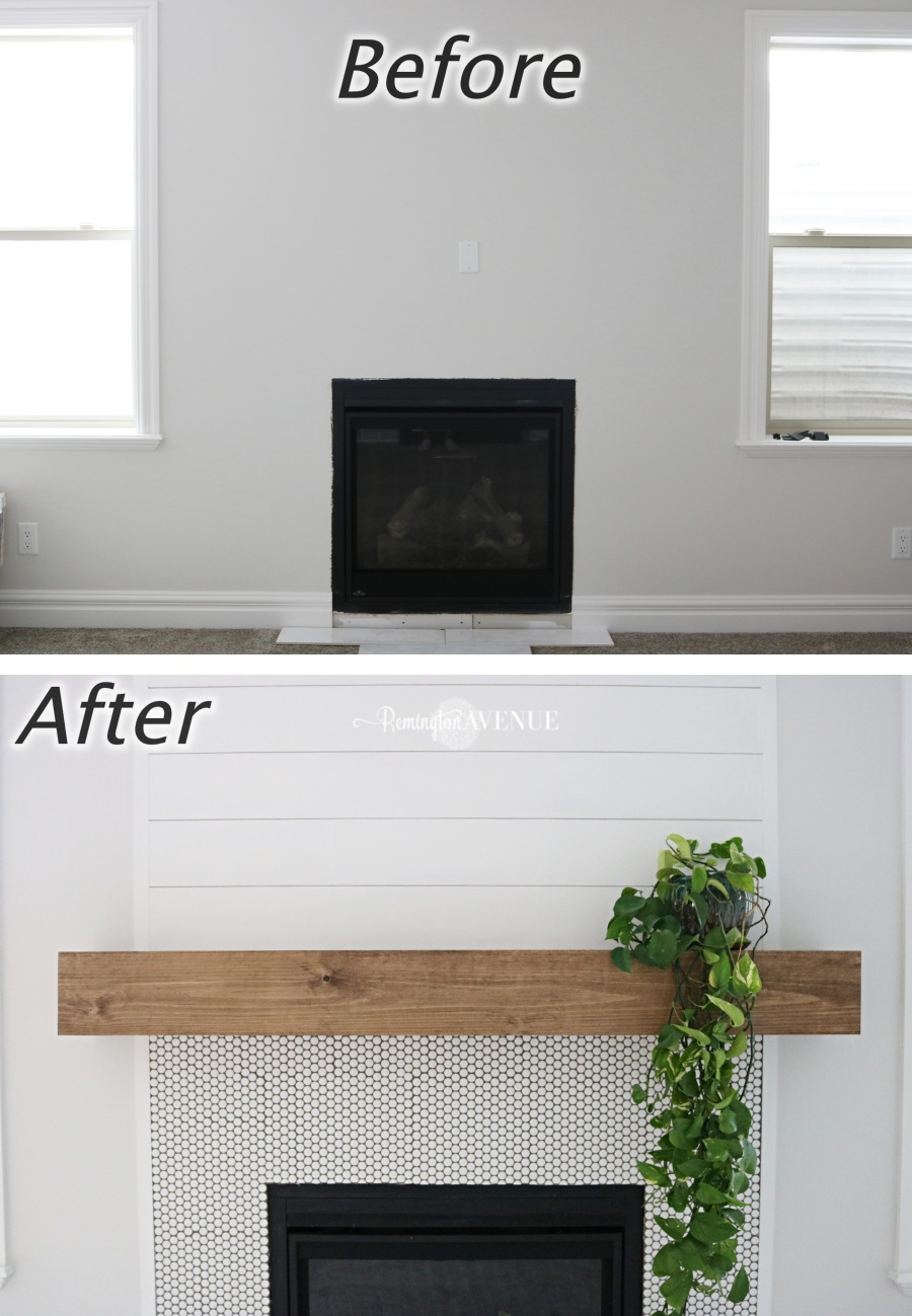 Floating Fireplace Mantel Ideas Easy Diy Wood Mantel Remington Avenue