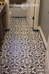 How to Paint & Stencil Tile - Remington Avenue