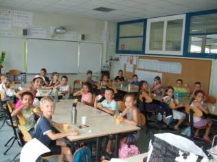 A l'heure de la dégustation dans une classe élémentaire