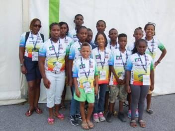 L'équipe de Guadeloupe et leurs accompagnateurs
