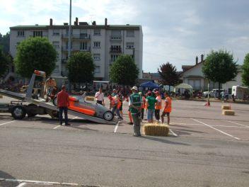 La voiture de Jean Marie Mosser embarquée sur la dépanneuse