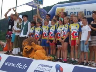 Le lion accompagne l'équipe de Franche-Comté