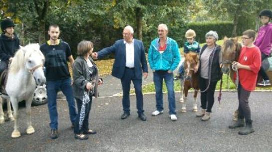Lors de la visite de Bernard Godfroy, maire de la Ville