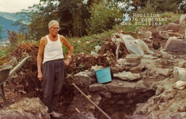 Mr Rouillon Pionnier des fouilles