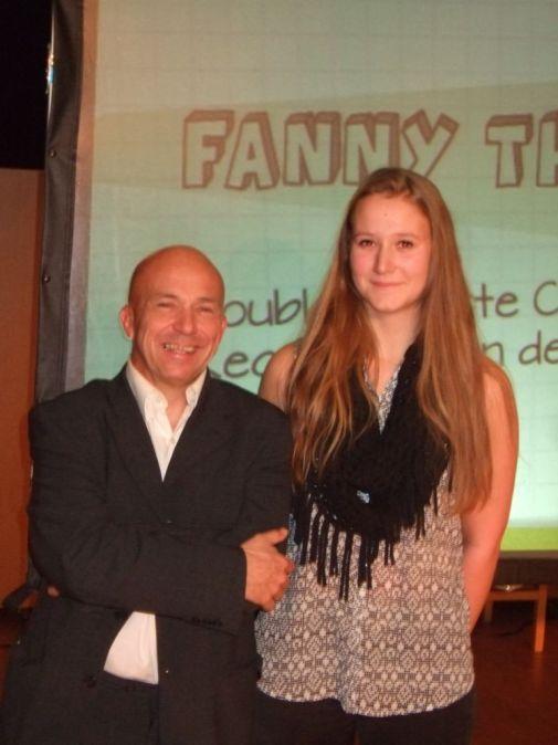 Fanny Thévenon Lacôte en compagnie du président Pierre Beretta
