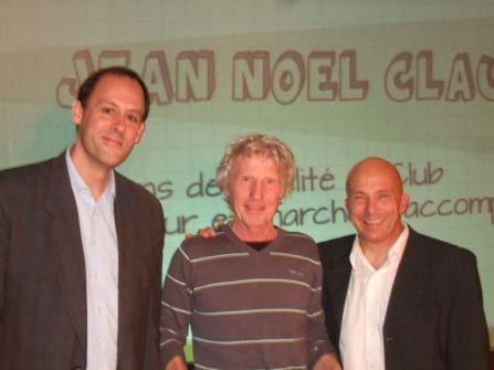 Jean-Noël Claude entouré de Mickael Marie-Saint-Germain et de Pierre Beretta