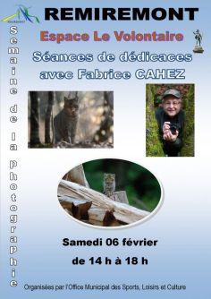 Affiche dédicaces Fabrice Cahez 2016