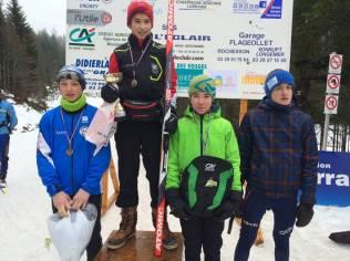 Le podium des U14 garçons