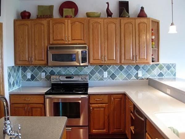remodelaholic faux painted tile backsplash painting kitchen backsplashes pictures ideas hgtv kitchen