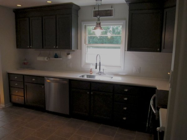 Home Depot Kitchen Wall Cabinets Remodelaholic | Charcoal Grey Kitchen Cabinets