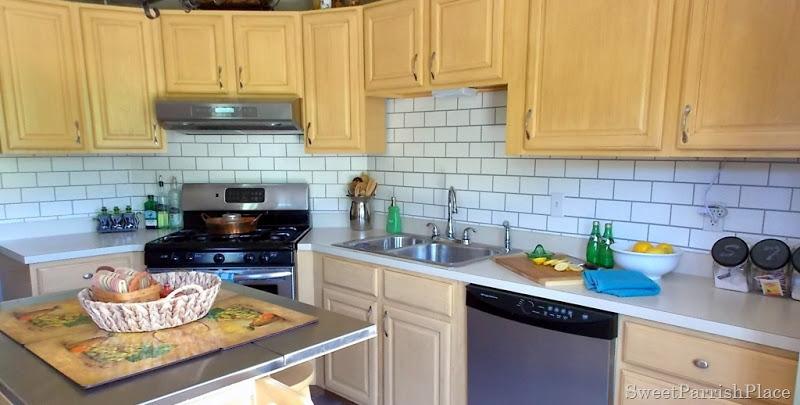 originally planning changing counter tops kitchen backsplash colorful painted diy kitchen backsplash kitchen