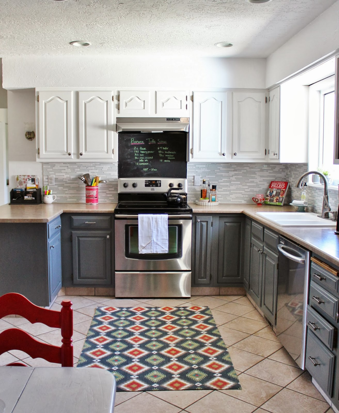 Photos Of White Kitchen Cabinets Remodelaholic Grey And White Kitchen Makeover