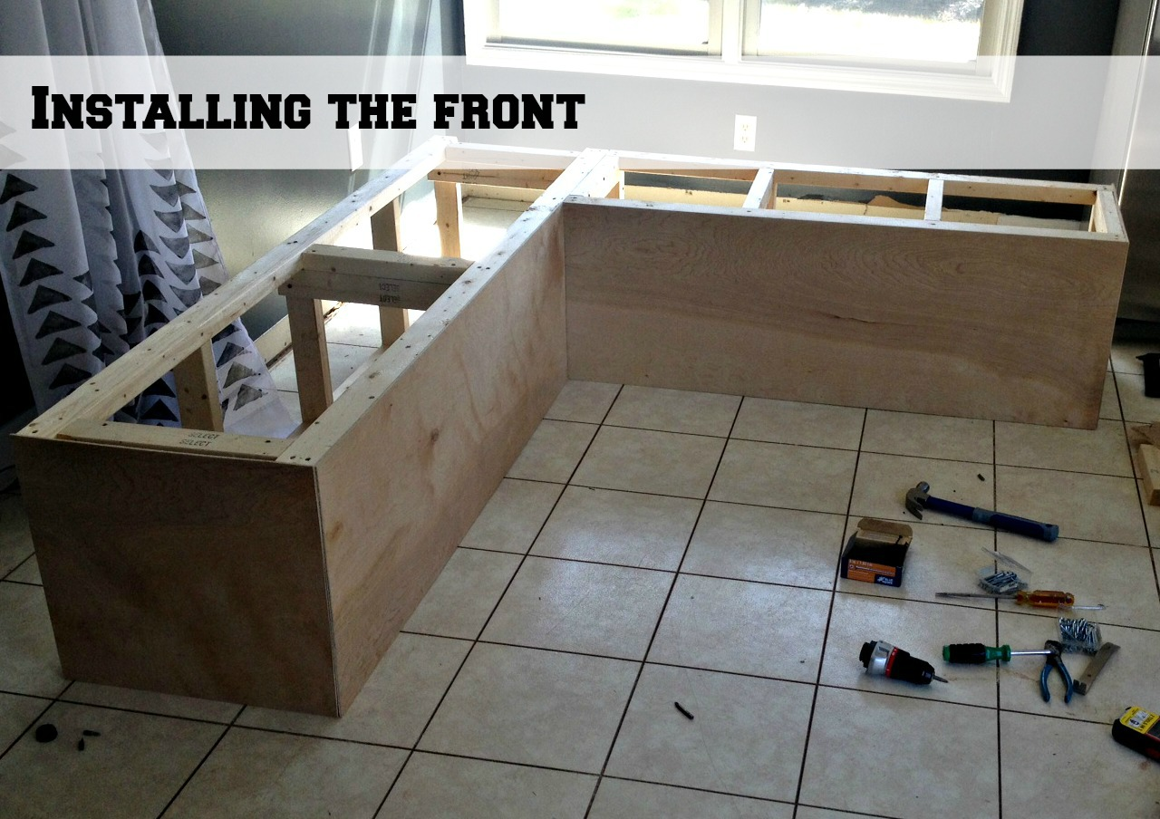 Diy Indoor Bench Seat Remodelaholic Build A Custom Corner Banquette Bench