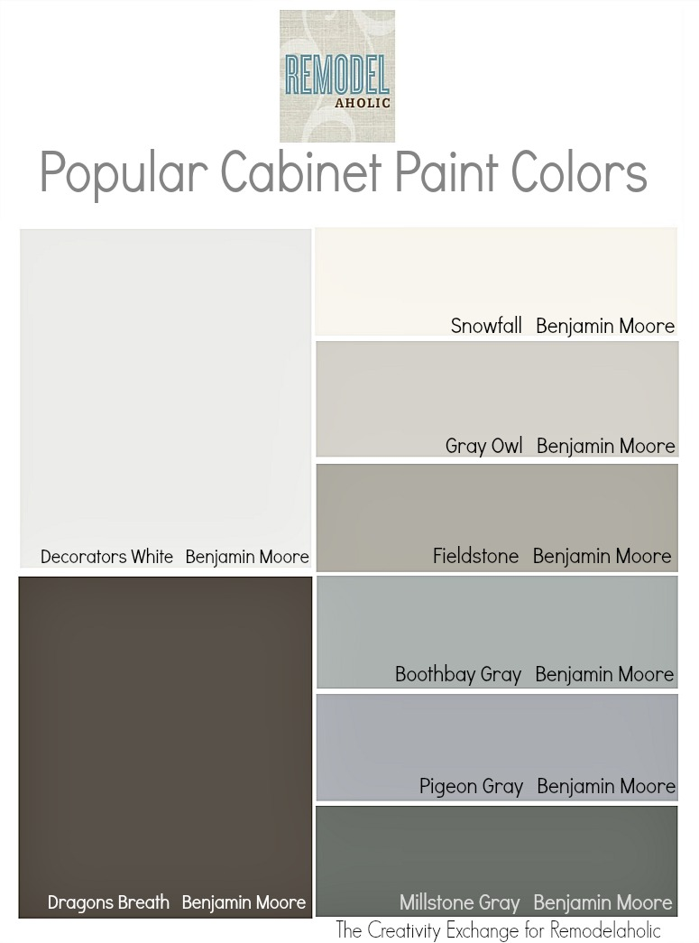 Best Benjamin Moore Gray Colors Remodelaholic Trends In Cabinet Paint Colors