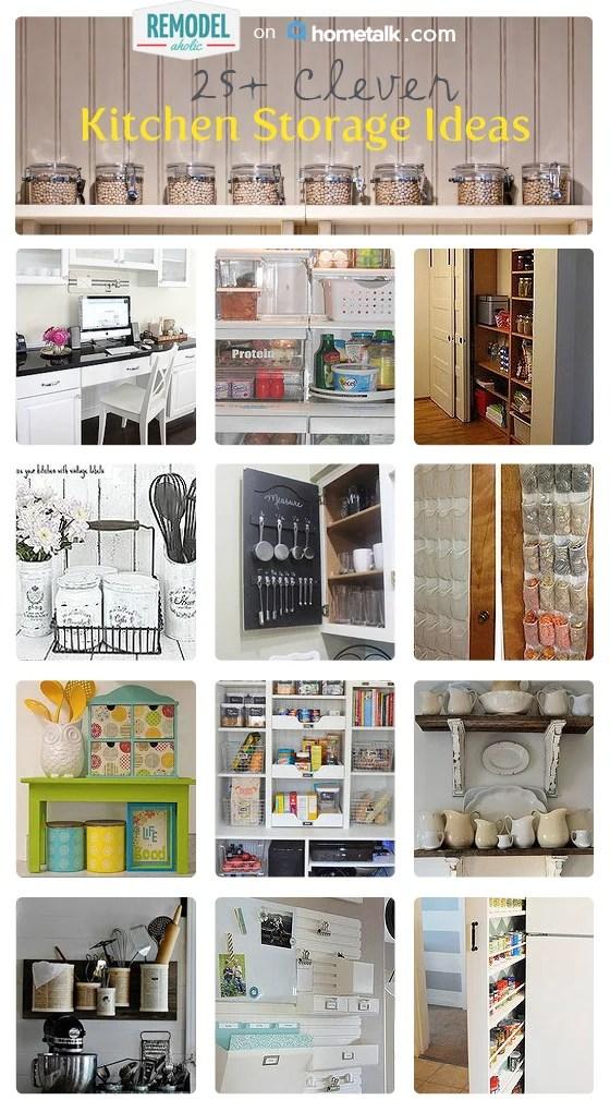 clever kitchen storage solutions remodelaholic organization diy clever storage ideas bathroom organization creative