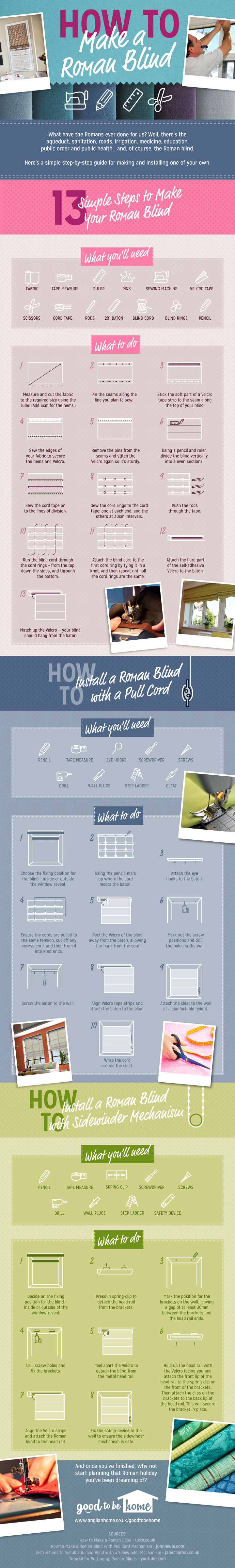 Remodelaholic How To Make And Install A Roman Blind