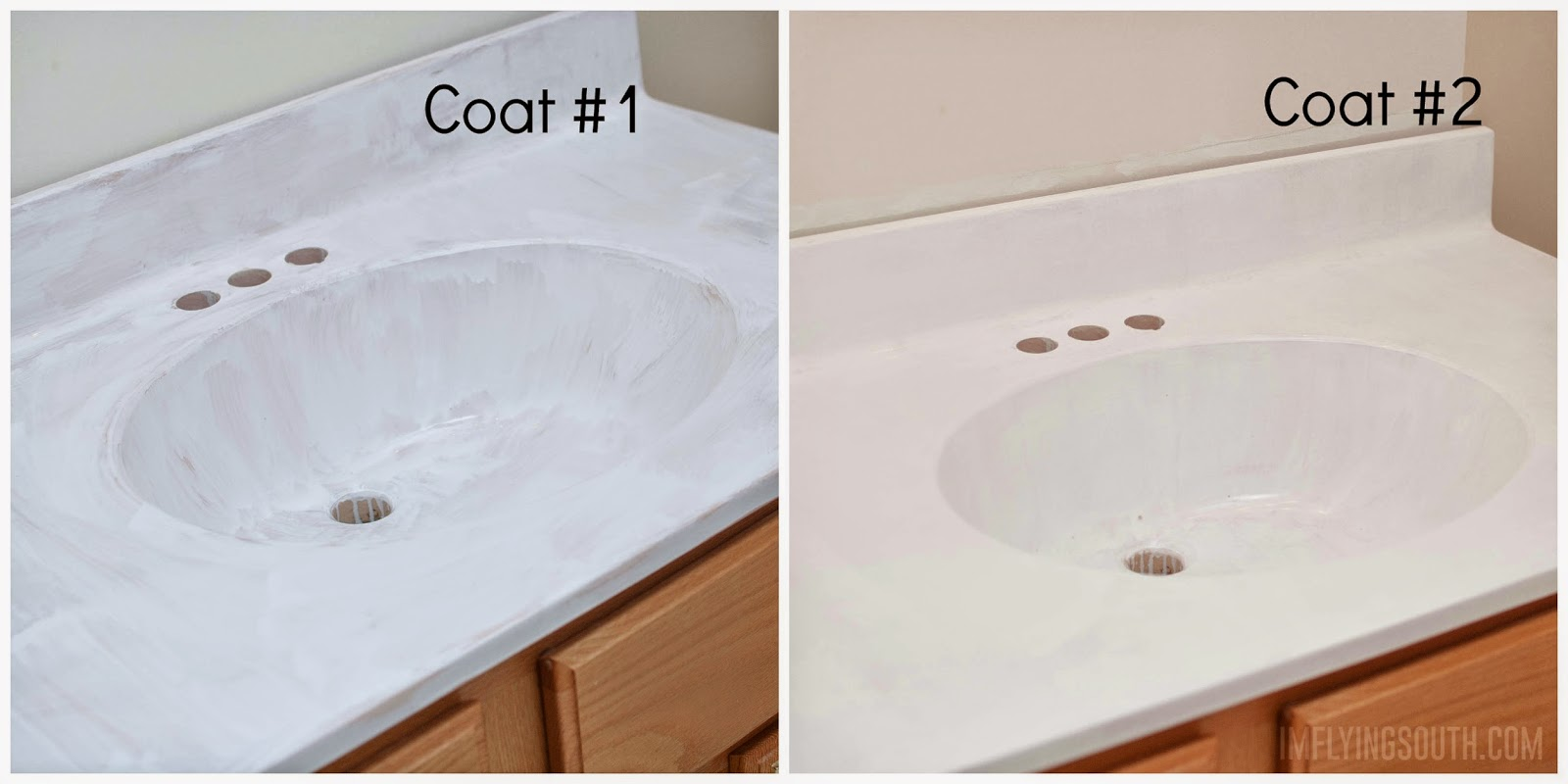 Painted Marble Countertops Remodelaholic Painted Bathroom Sink And Countertop Makeover