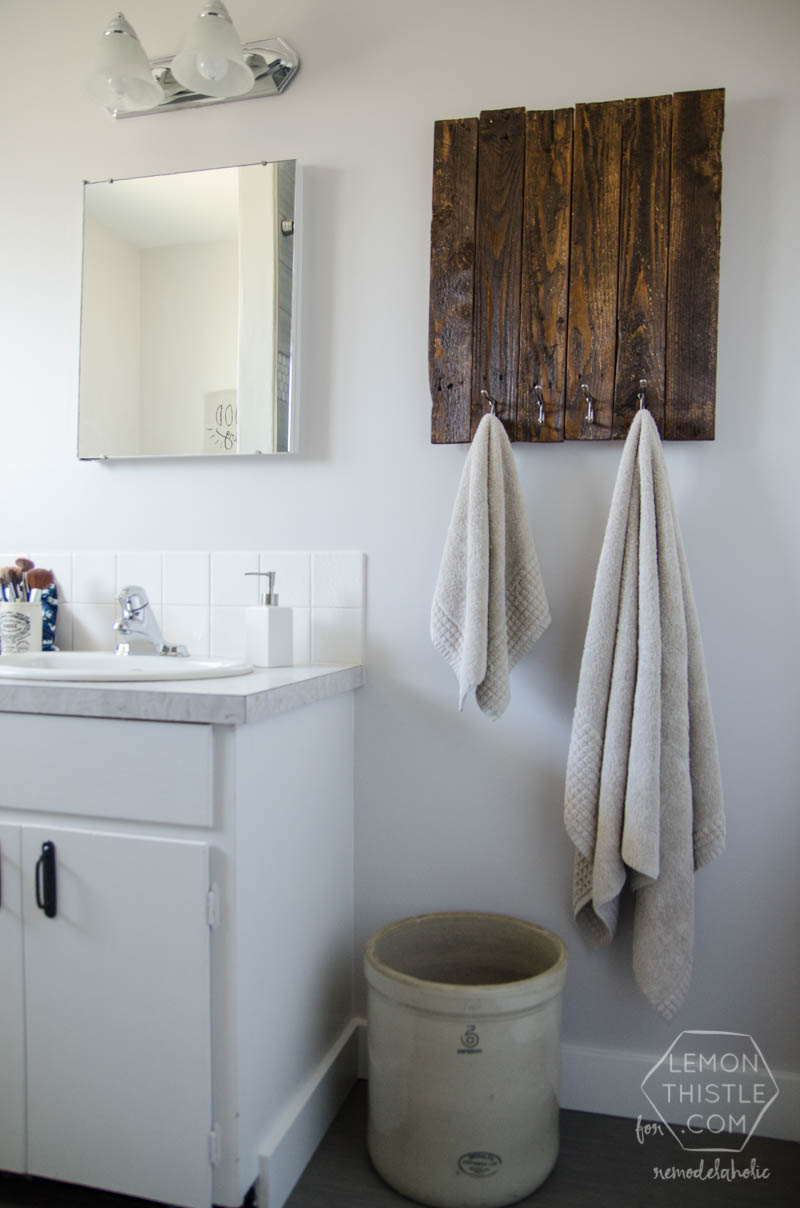 Remodelaholic Diy Bathroom Remodel On A Budget And Thoughts On Renovating In Phases