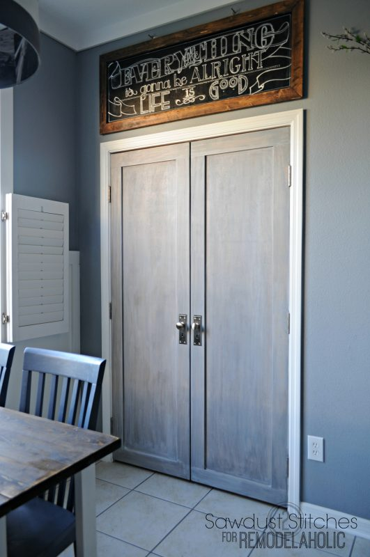 Home Depot Cabinet Doors Remodelaholic | Bifold Door Makeover Into French Doors