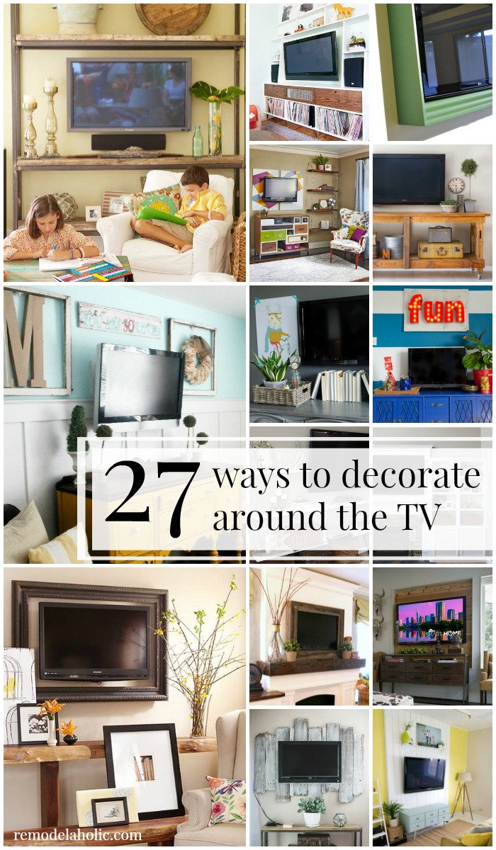 Wood Wall Behind Tv Remodelaholic 95 Ways To Hide Or Decorate Around The Tv