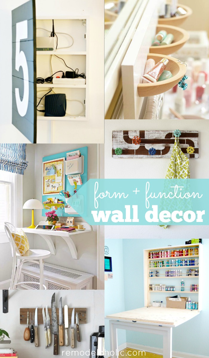 Remodelaholic 30 Functional Wall Decor Ideas For Organizers And Shelves