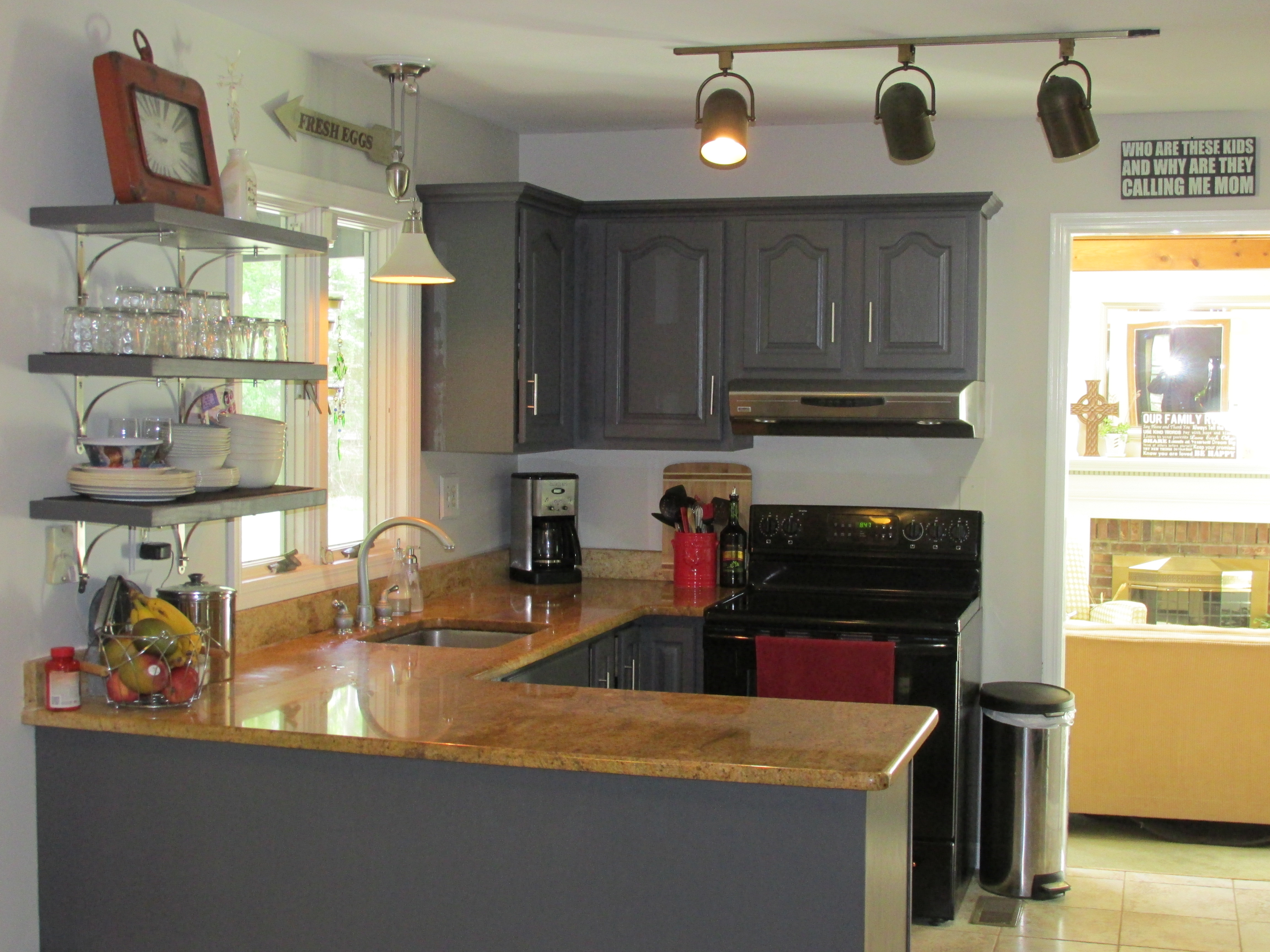 Images Of Painted Kitchen Cabinets Remodelaholic Diy Refinished And Painted Cabinet Reviews