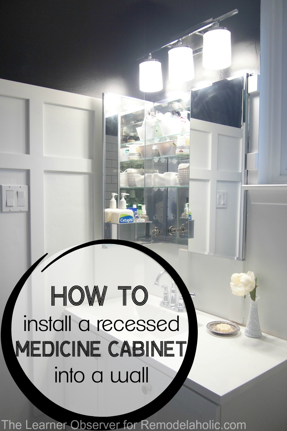 Recessed Shaving Cabinets Remodelaholic How To Install A Recessed Medicine Cabinet