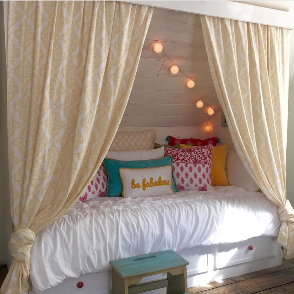 Built In Bed Nook Remodelaholic Beautiful Built In Bed Nook With Storage Drawers