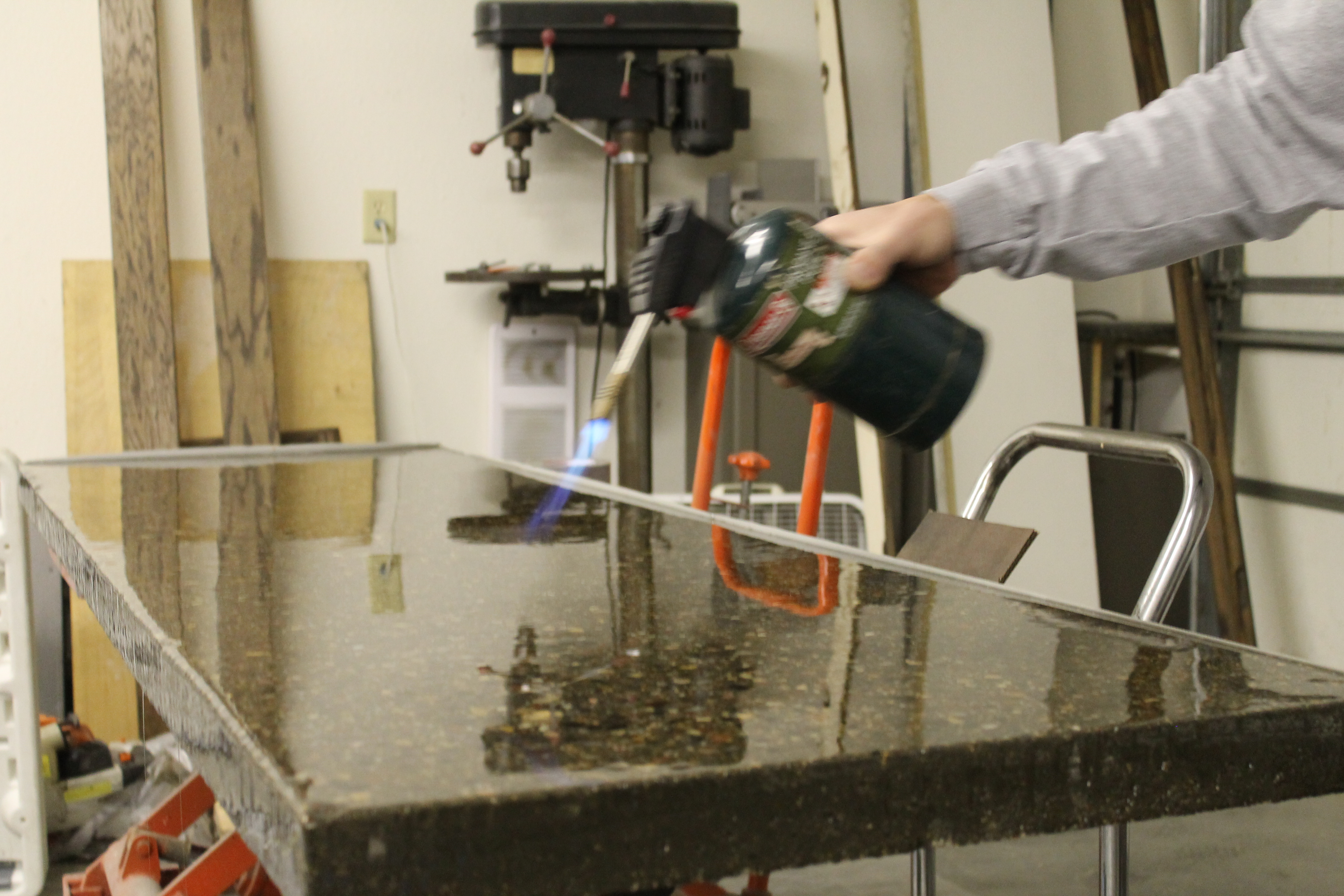 How To Seal Concrete Countertops Remodelaholic Diy Concrete Countertops In A Beautiful