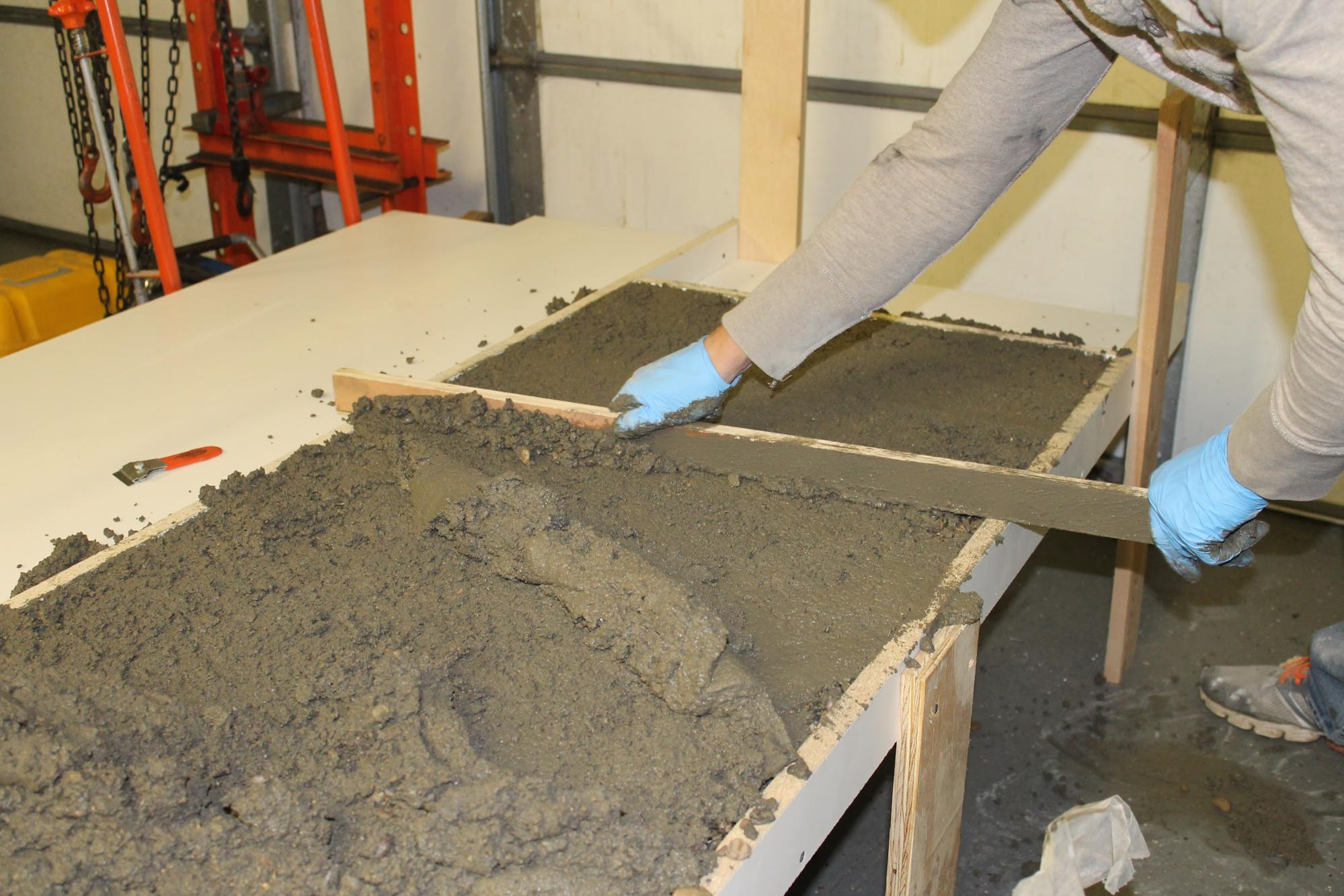 Making Your Own Concrete Countertop Remodelaholic Diy Concrete Countertops In A Beautiful Master