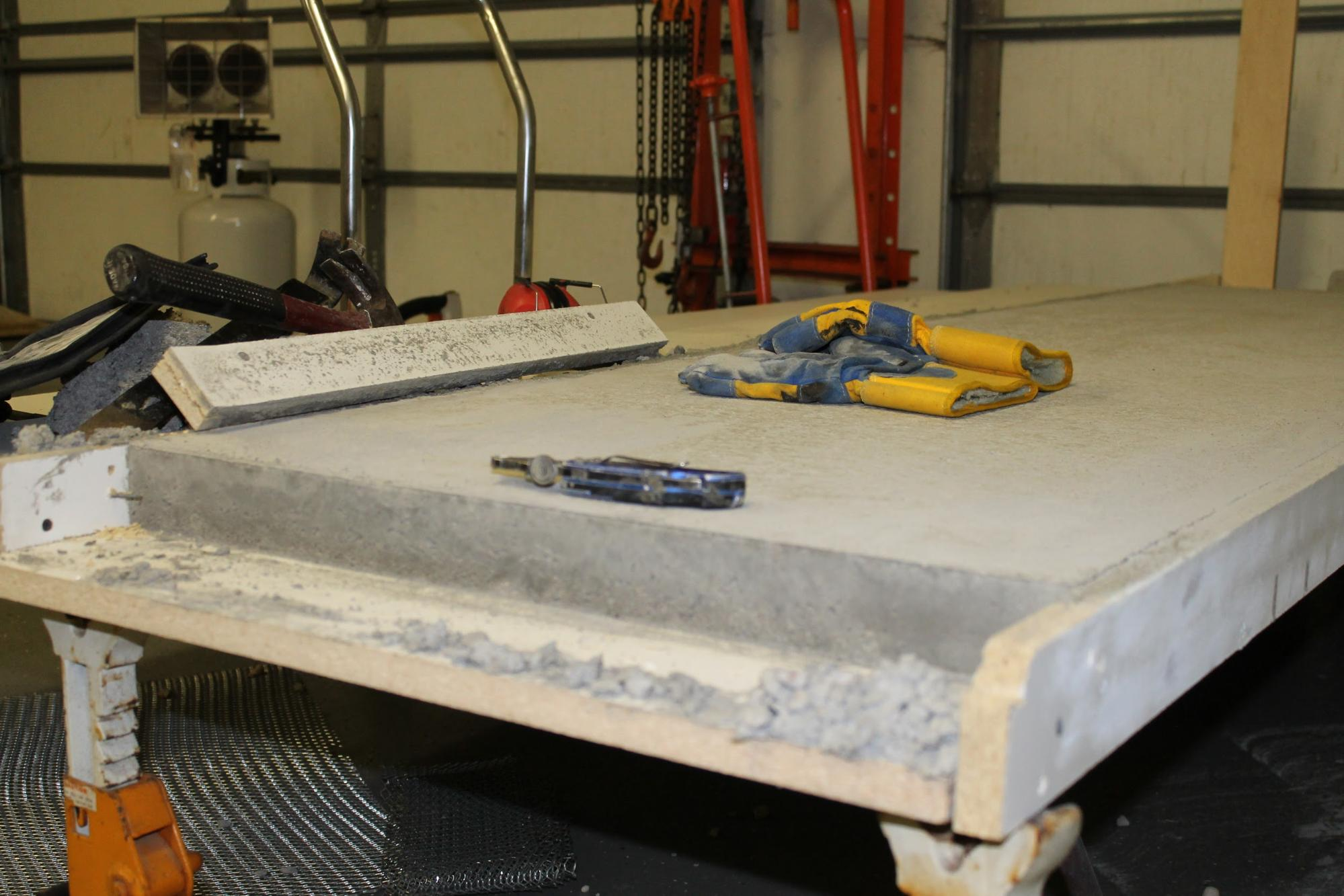 Making Your Own Concrete Countertop Diy Concrete Countertops In A Beautiful Master Bathroom Renovation