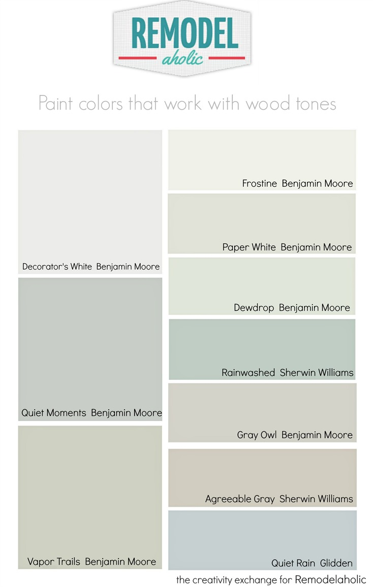 Best Benjamin Moore Gray Colors Remodelaholic Choosing Paint Colors That Work With Wood Trim And