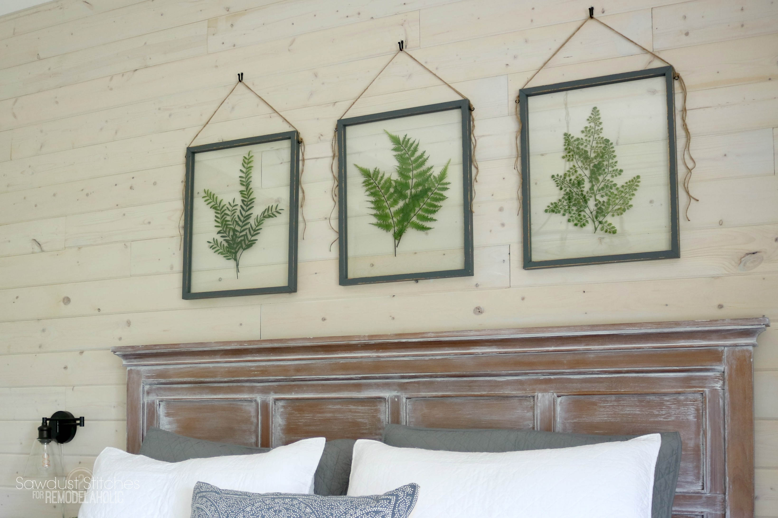 Diy Picture Frame Glass Remodelaholic How To Make Your Own Diy Pressed Plant Frame