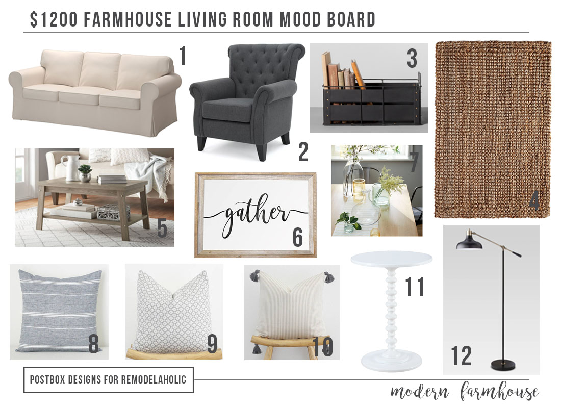 Contemporary Furniture For Small Living Room Remodelaholic Modern Farmhouse Living Room For Just 1200
