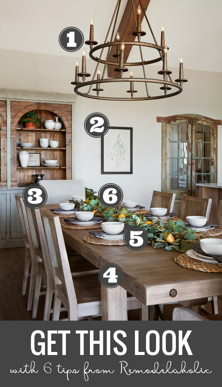 Remodelaholic Get This Look Farmhouse Dining Room Fixer Upper