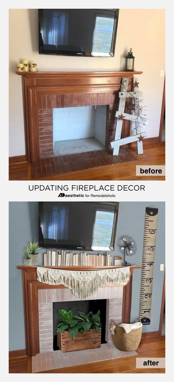 How To Decorate Fireplace Remodelaholic Real Life Rooms Decorating Ideas For A Tv Above A