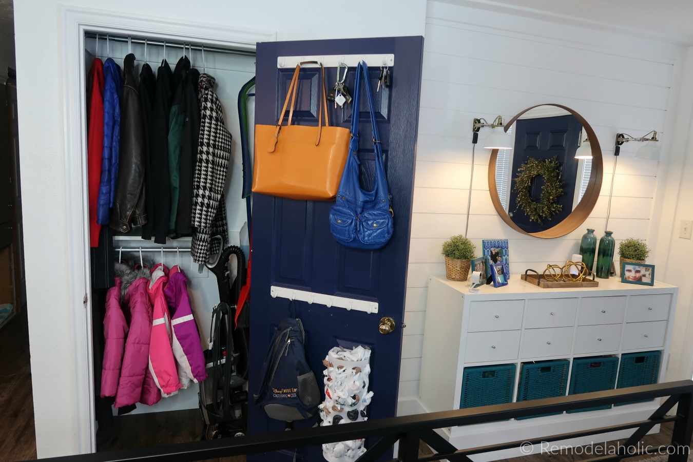 Closet Organization Remodelaholic Improved Small Coat Closet Organization For Our