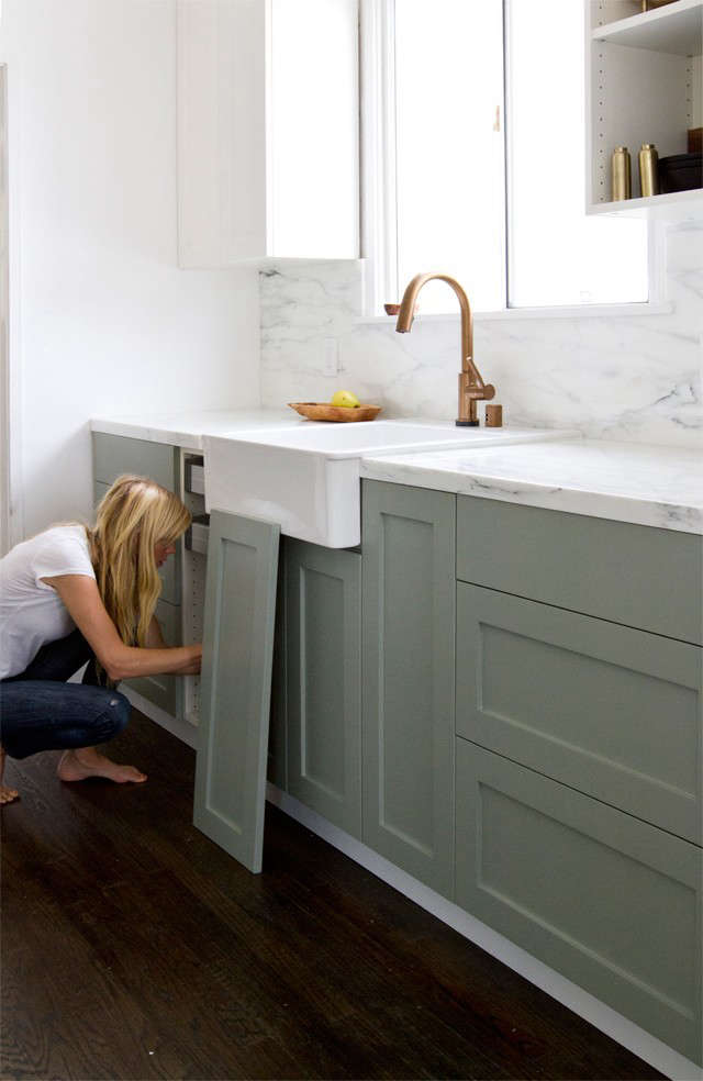 Colonial Kitchen Color Ideas With Dark Cabinets Ikea Upgrade: The Semihandmade Kitchen Remodel : Remodelista