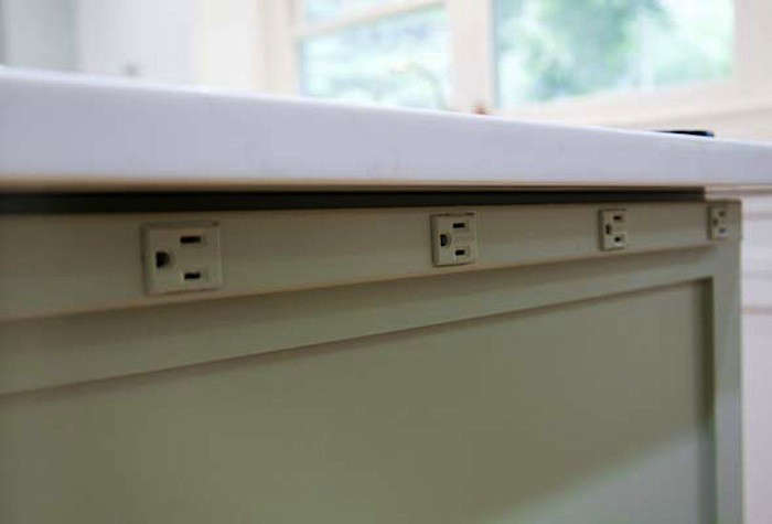 Under Cabinet Power Strip Where To Locate Electrical Outlets: Living Room, Bathroom